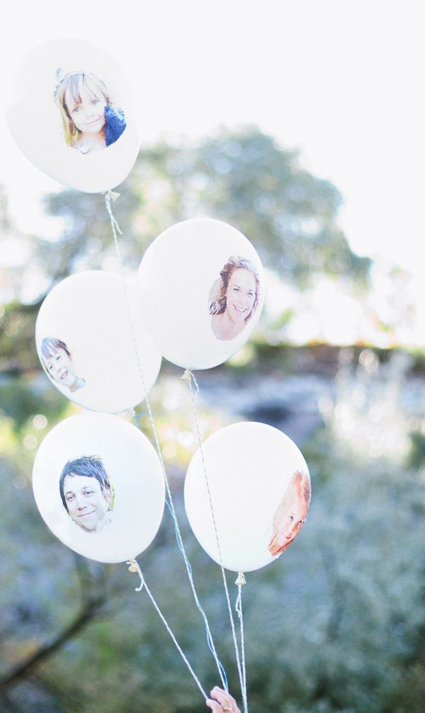 Face balloons for the whole family!