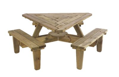 Triangle Picnic Table Playground Pinterest Picnic Tables - Triangle picnic table