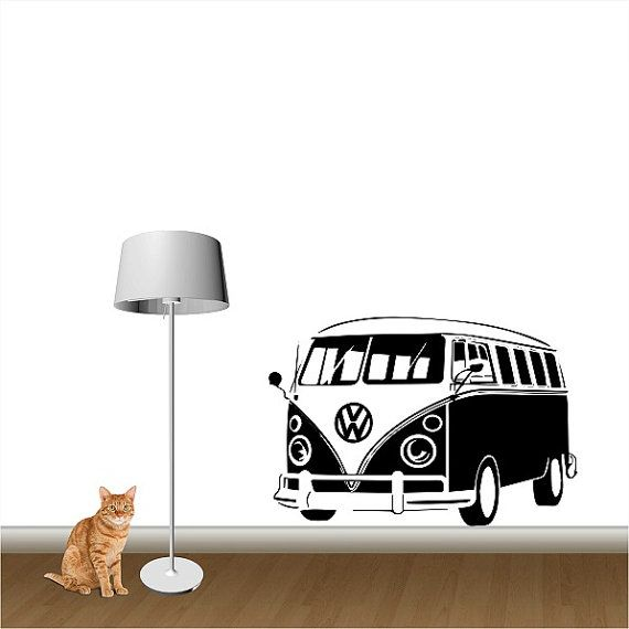 Hey, I found this really awesome Etsy listing at https://www.etsy.com/listing/176604158/vw-camper-big-van-bus-vinyl-wall-art