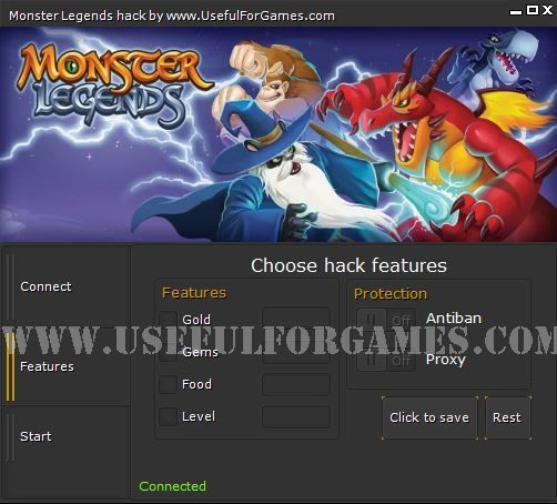 The Latest cheats tool from Useful for Games team is Monster Legends hack. http://usefulforgames.com/monster-legends-hack-cheat-tool