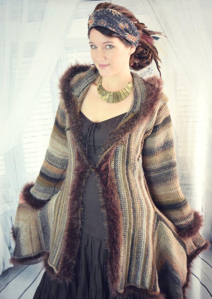 Elf Coat Free Crochet Pattern   Coat patterns, Poncho ...