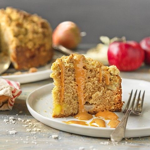 Cooping up for a rainy day indoors? This apple spice coffee cake might be just thing to go with that hot cup of tea!
