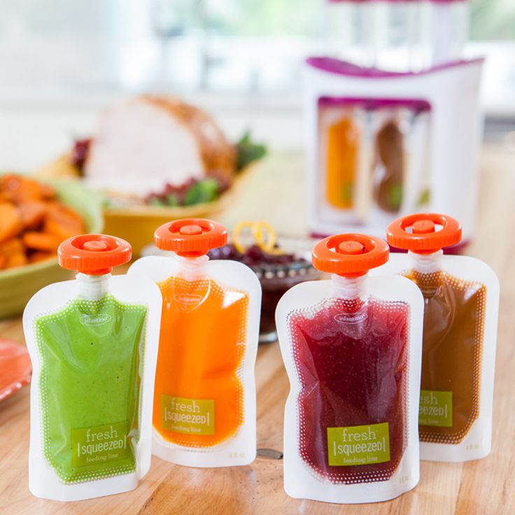 Portable baby food pouches - to take homemade baby food with you :)