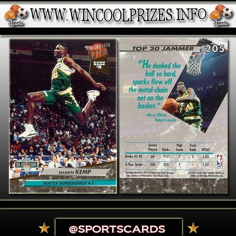 Basketball Cards Shawn Kemp Signup for a free account