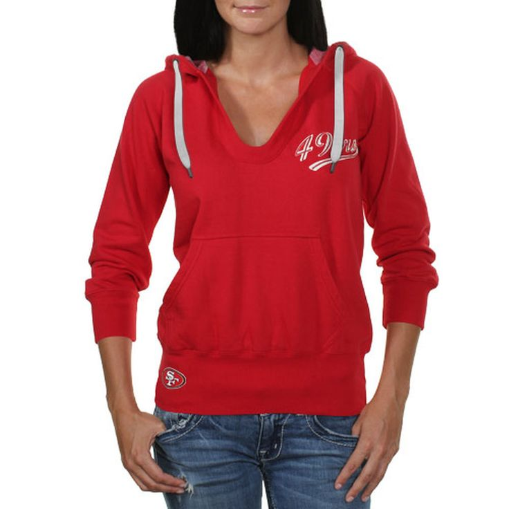 Women's San Francisco 49ers Touch by Alyssa Milano Scarlet In the Bleachers  Pullover Hoodie