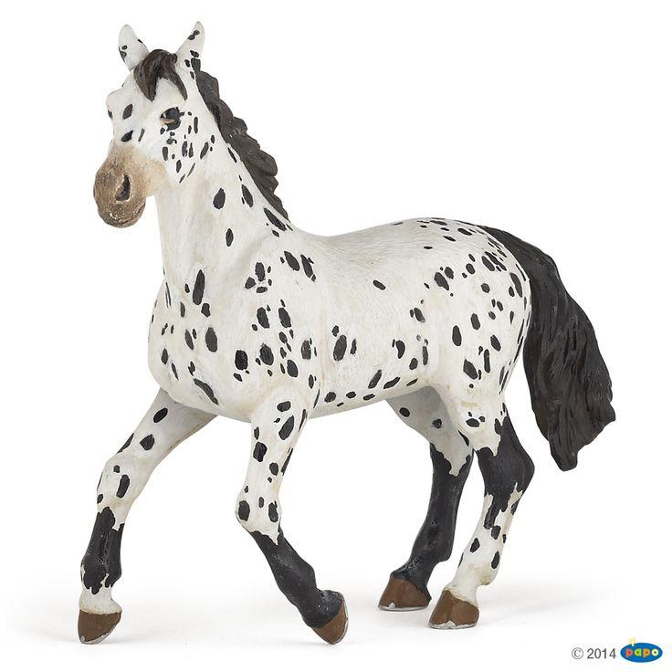 Figurine Cheval appaloosa noir - Figurines CHEVAUX, POULAINS ET PONEYS