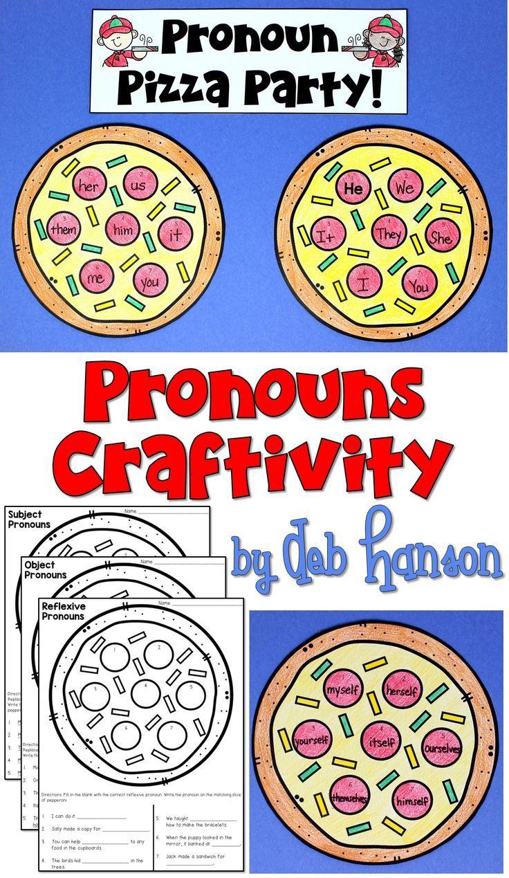 Pronouns Craftivity Object Pronouns Craftivity Pronouns Third Grade [ 1269 x 736 Pixel ]