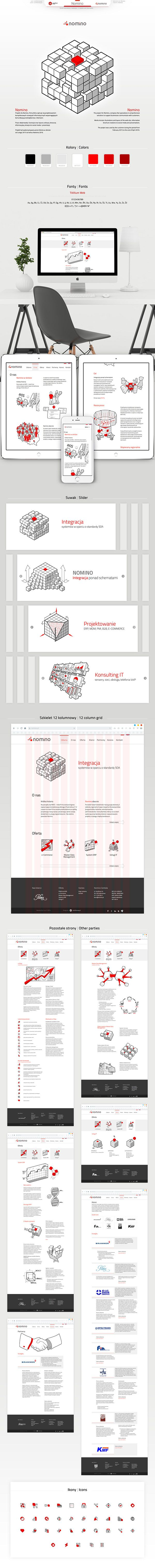 Nomino  #illustration, #lineart, #corporateidentity, #leaflet, #website, #drowings