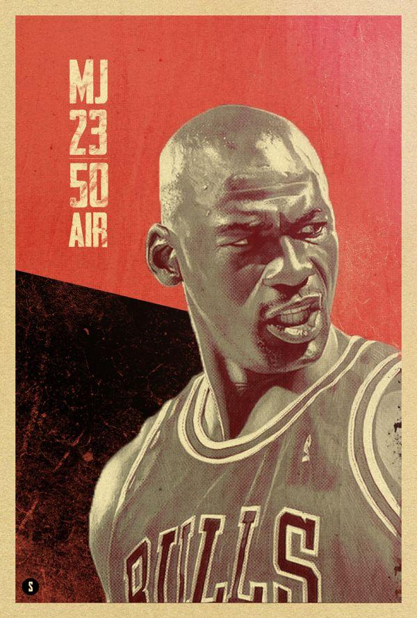 Michael Jordan by Rolando Miguel Soberón, via Behance