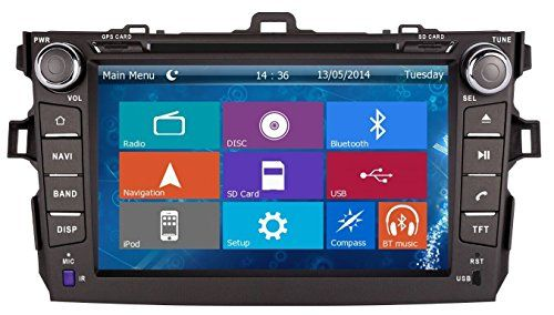 8 Inch Touchscreen Monitor Car GPS Navigation System for TOYOTA COROLLA 2006 2007 2008 2009 2010 2011 Car Stereo DVD Player Free Backup Rear View Camera Free US Map by Indiny ** Check out this great product.