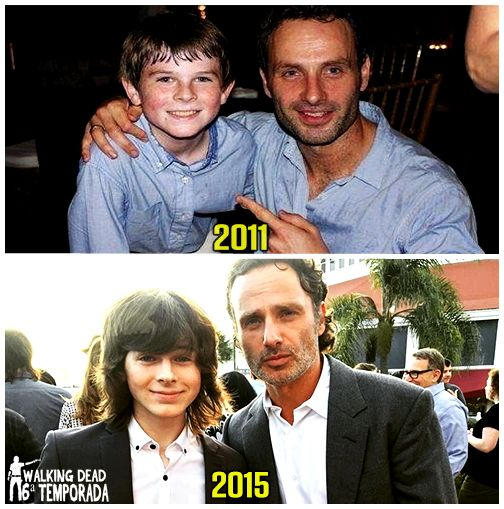Chandler Riggs & Andrew Lincoln