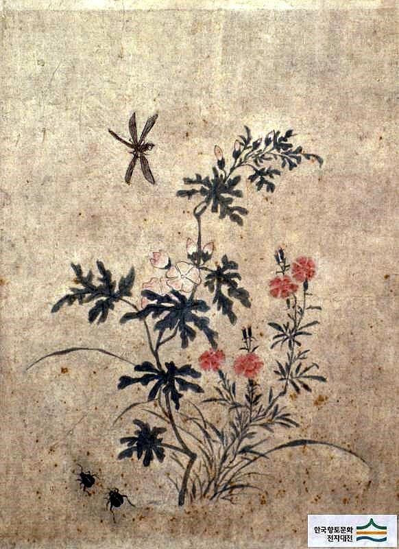 (Korea) Folder Screens by Lady Shin Saimdang (1504- 1551). 48.6×35.9cm. ca 16th century CE. Joseon Kingdom, Korea. colors on paper. Ojukheon Museum.