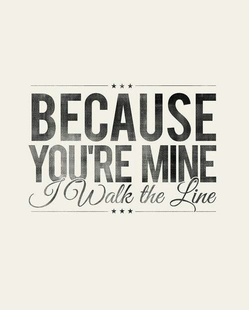 Johnny Cash Walk The Line Lyrics Typography Visuals
