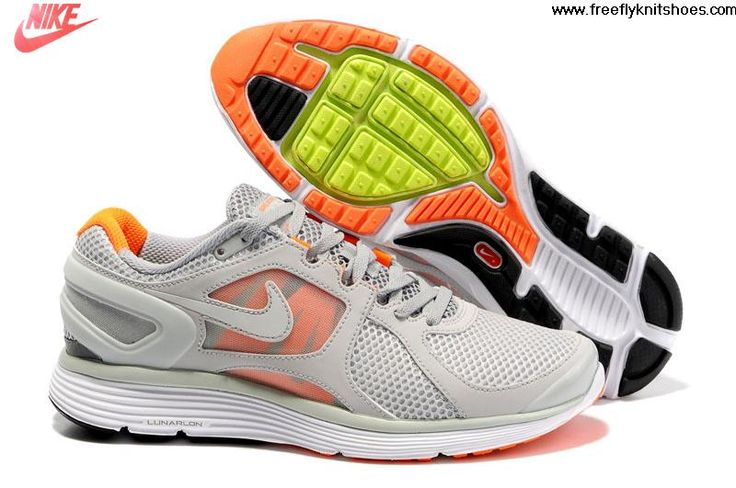 Low Price Mens Nike LunarEclipse 2 Platinum Wolf Grey Total Orange White Shoes Lightweight Shoes