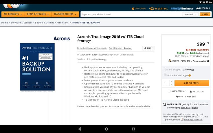 Acronis True Image 2016 with 1 TB Cloud Storage Syba Low Profile PCI-E SATA III Controller Card w/ 2 Internal S... #LavaHot http://www.lavahotdeals.com/us/cheap/acronis-true-image-2016-1-tb-cloud-storage/181122?utm_source=pinterest&utm_medium=rss&utm_campaign=at_lavahotdealsus