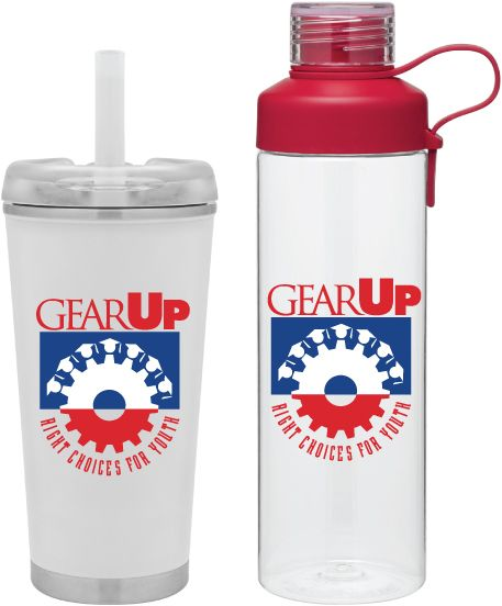 New Drinkware for #GearUp  Brooklyn Matte white 16 oz double wall 18/8 stainless steel thermal tumbler with copper vacuum insulation, stainless steel rim and base, threaded snap fit Tritan lid for hot/cold use and flexible wide silicone straw - retail gift box included. Nine body color options, hot 12 hours / cold 24 hours.  H2go Strap Red 25 oz single wall [BPA-free] Eastman Tritan copolyester bottle with threaded dual-opening lid, threaded top, and soft carrying handle. Nine body color…