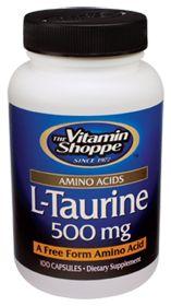Taurine - Buy Taurine (500 MG) 100 Capsules at the Vitamin Shoppe