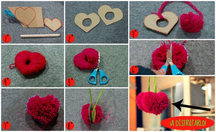 3 ideas para san valent n hechas con lana chang 39 e 3 - Manualidades en lana ...