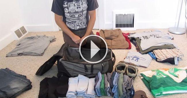 Упаковка чемодана. Уровень: Бог