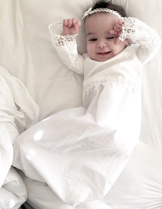 Excited to share the latest addition to my #etsy shop: Christening dress baby girl - baby girl Baptism dress - baptism dress - Christening gown - clearance sale http://etsy.me/2yFxjOp #clothing #children #baby #baptism #white #babygirlclothing #babydress #christeningdr
