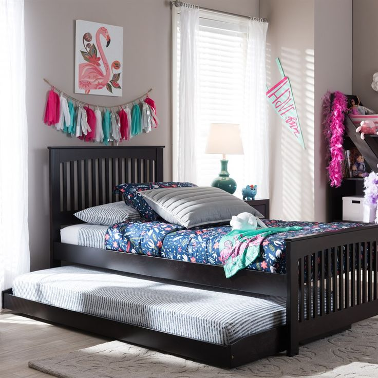 hevea solid wood twin bed frame with trundle is a charming and simple design that presents