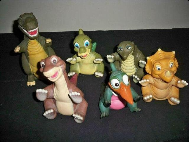 Pizza Hut Toys : Land before time pizza hut puppets rebrn