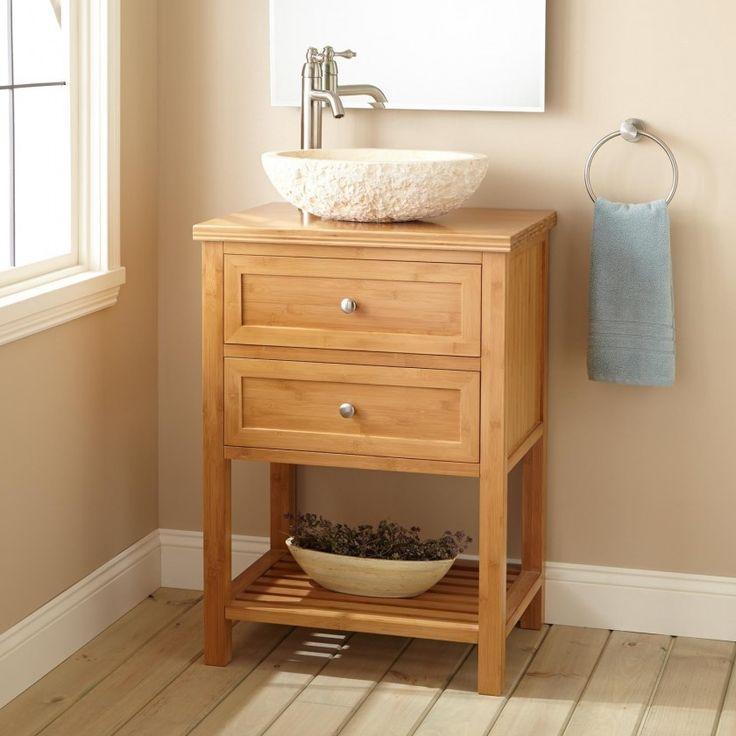 Furniture, Entranching Narrow Depth Vanities For Bathroom