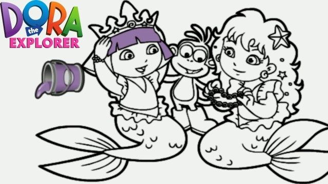 27 Great Picture Of Dora Coloring Page Entitlementtrap Com Mermaid Coloring Pages Dora Coloring Mermaid Coloring Book