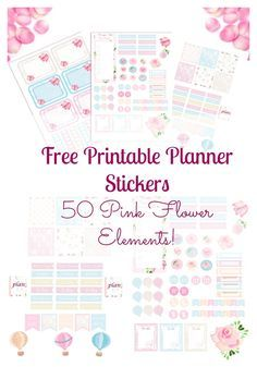 Free printable weekly planner stickers. Download and print your set.