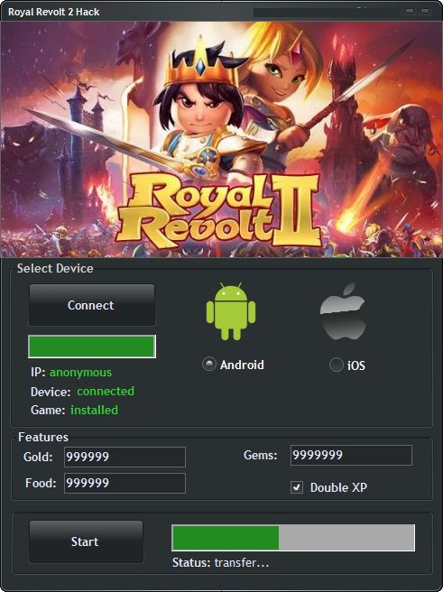 Royal Revolt 2 Hack Cheats Tool   Royal Revolt 2 Hack is Modhacks.com a new tool, that we all want to present to you. If you ever glimpse at all the other hacks on line, this amazing tool is the most effective. This specific tool was made to be functioning on Android os and iOS …