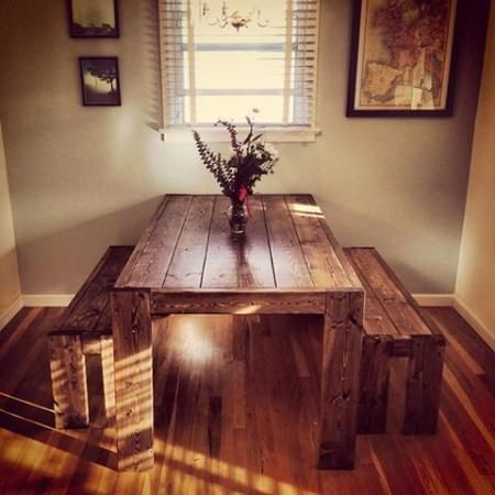 would LOVE a kitchen table like this!!! Modern Farm Table | Do It Yourself Home Projects from Ana White @jlbs291