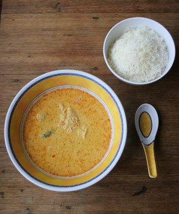 Thai Yellow Curry Soup (I want to try this, but with shrimp and red peppers and snow peas.)