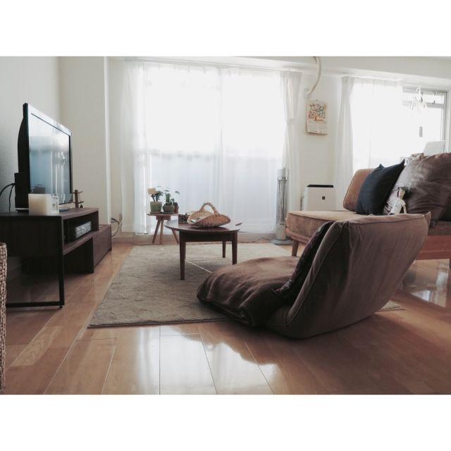 Shihoさんの、部屋全体,ソファ,ローテーブル,二人暮らし,1LDK,unico,新居,賃貸マンション,ALBERO,斉藤和義人形,のお部屋写真