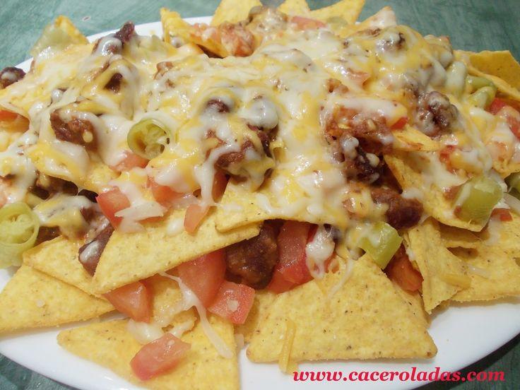 Caceroladas: Nachos con carne y queso.
