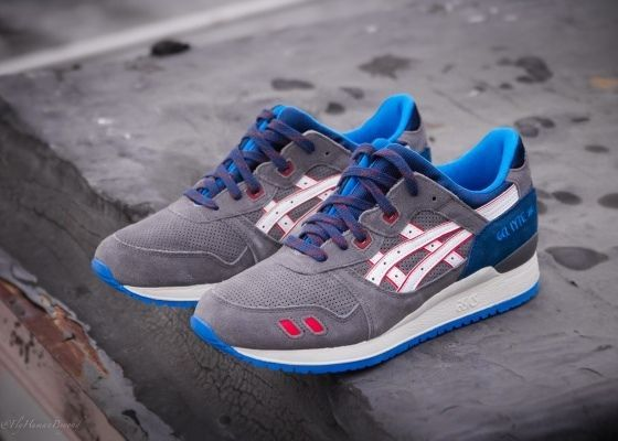 ASICS GEL LYTE III WINTER BLUES GREY WHITE BLUE SUEDE SIZE 10.5 * H30QK  1301 *