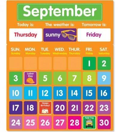 Color Your Classroom - Calendar Bulletin Board