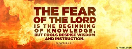 Proverbs 1:7 NKJV The fear of the Lord is the beginning of wisdom.    This site has great cover photos to use on Facebook.