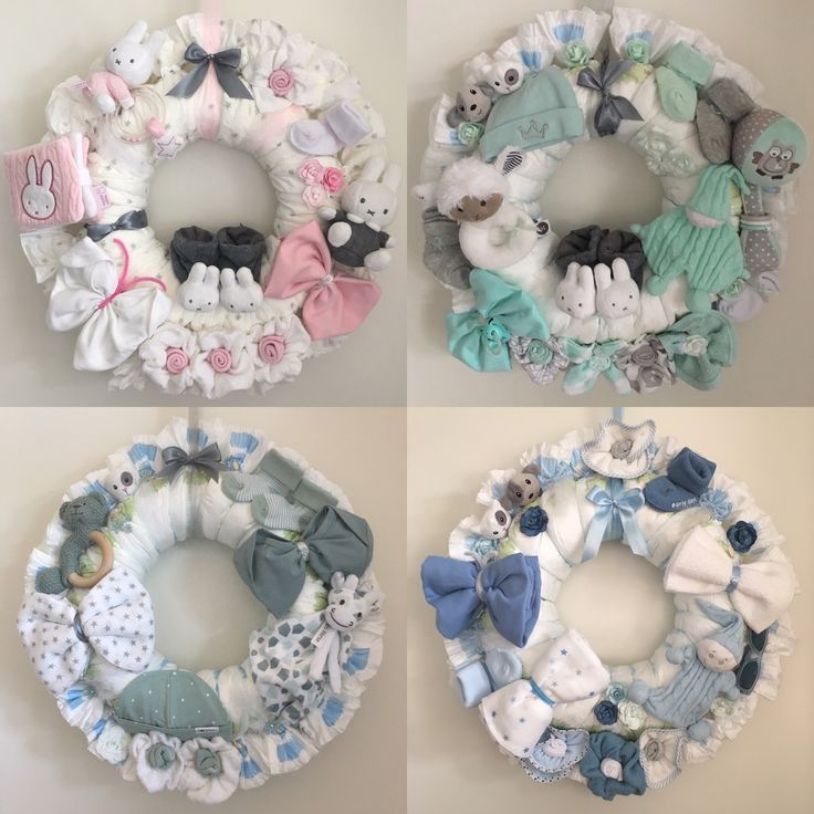 Luierkrans / diaperwreath / babyshower