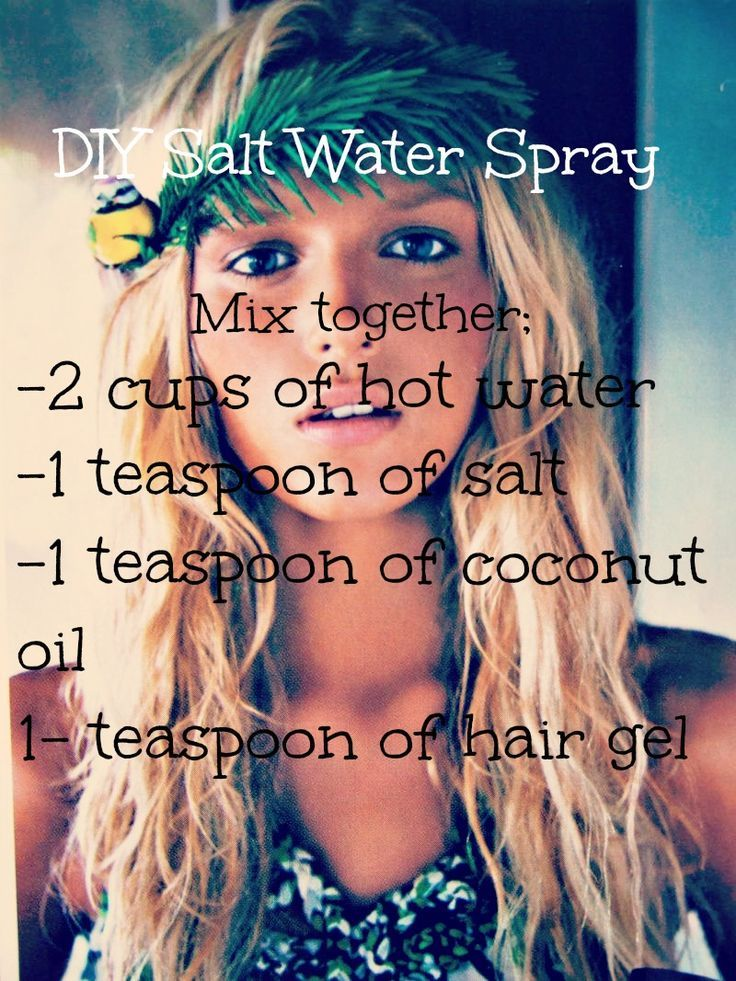 Hair care Ideas : DIY: Salt water spray. For those of us who want that textured beachy hair and