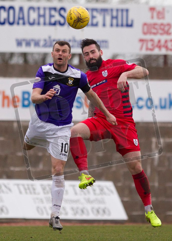 Queen's Park's Bryan Wharton challenges for the ball during the SPFL League Two game between East Fife and Queen's Park