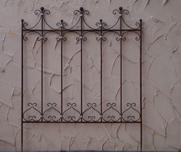 Eisen metall stahl rankgitter spalier rankzaun zaun roh for Deko zaun metall