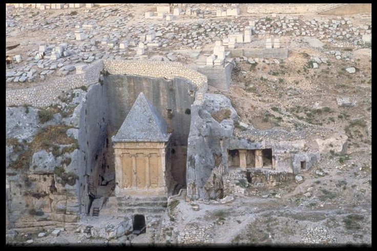 Jerusalem: Zachariah's Tomb in the Kidron Valley and Jewish cemetery of Mt. of Olives
