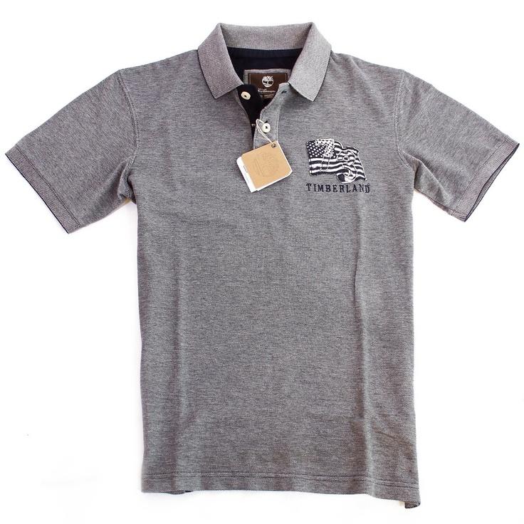 Timberland Vintage Americana Pique Polo Shirt Top T Shirt £29.99