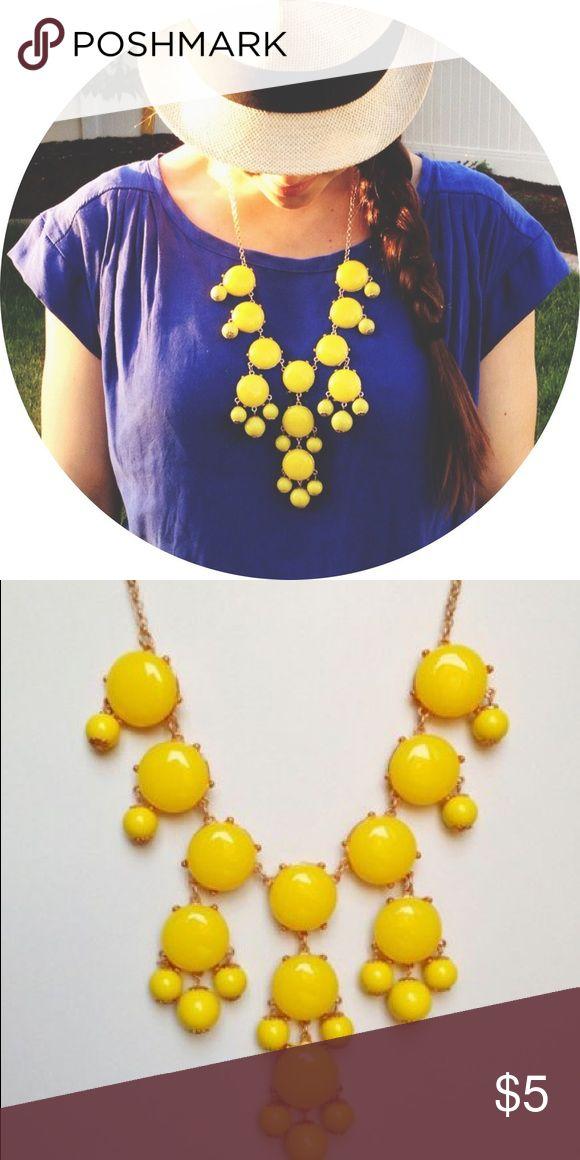 Yellow bubble necklace, similar to Jcrew Yellow bubble necklace, similar to Jcrew Jewelry Necklaces