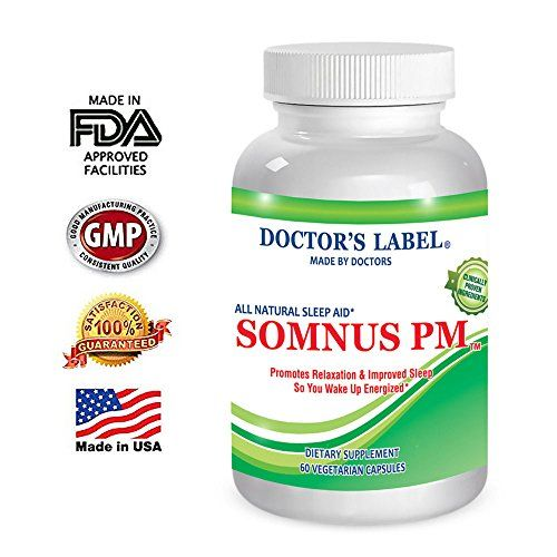 Somnus PM Sleep Supplement, Natural, Herbal Sleep Aid, OTC Sleep Medication, Supports Stress, Relaxation and Sleep, 60 Vegetarian Capsules  ★ PROMOTES RELAXATION AND IMPROVED DEEP SLEEP- According to sleep specialists, insomnia and sleep disturbances are caused by two main factors, anxiousness/stress and sleep cycle disturbances. SOMNUS PM is a sleep medication that contains all natural ingredients that promote relaxation, and helps regulate sleep cycle disturbances so you fall asleep ...