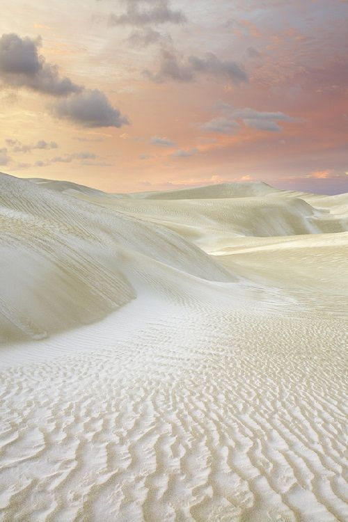 Sand Dunes, Cervantes, WA -- United States -- the sky makes the sand more interesting.
