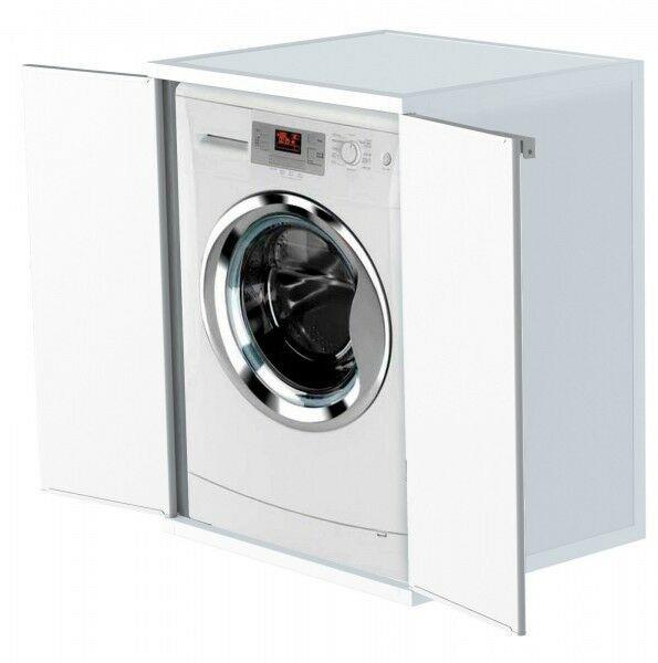 Details Zu Waschmaschinenschrank Trocknerschrank Kunststoffschrank Haushaltsschrank Weiss Kunststoffschrank Trockner Auf Waschmaschine Waschmaschine