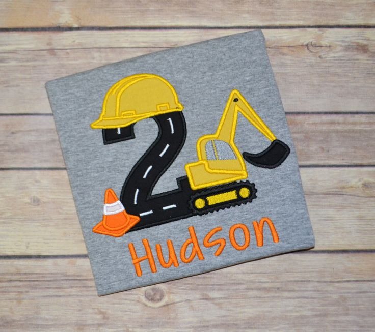 Construction birthday party shirt, digger birthday shirt, excavator shirt, birthday party ideas