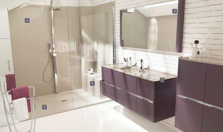 Découvrez les salles de bains de la collection Ambiance Bain dans le catalogue Aufildubain http://www.aufildubain.fr/guide.html
