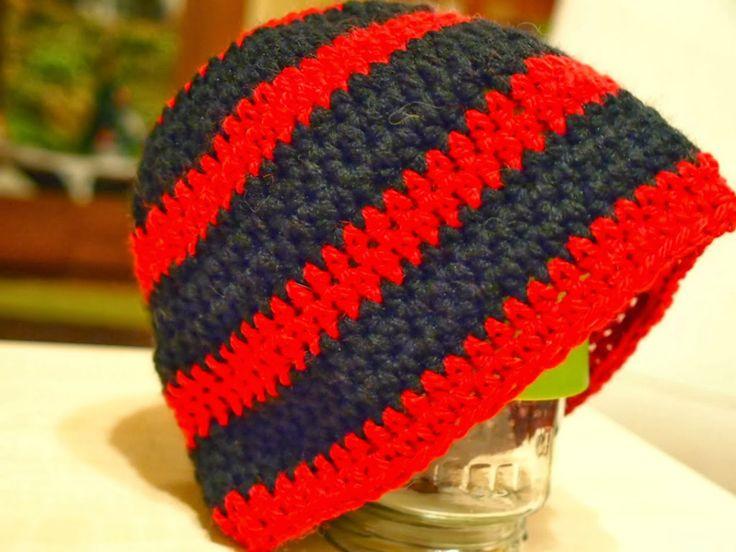 Ανδρικός σκούφος με ρίγες/ Men's cap with stripes